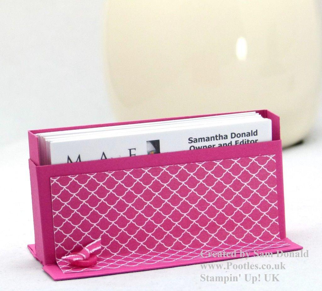 Stampin Up Uk Business Card Holder Tutorial Video Business Card Holders Handmade Business Cards Card Holder Diy