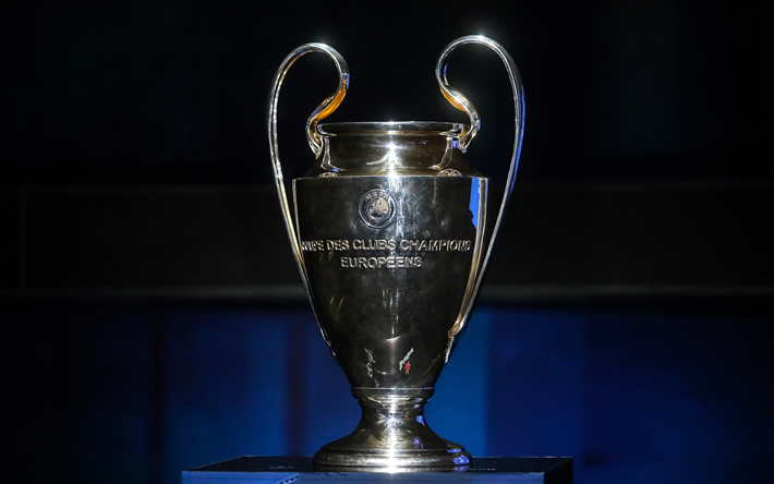 Download Wallpapers UEFA Champions League Cup 4k Trophy