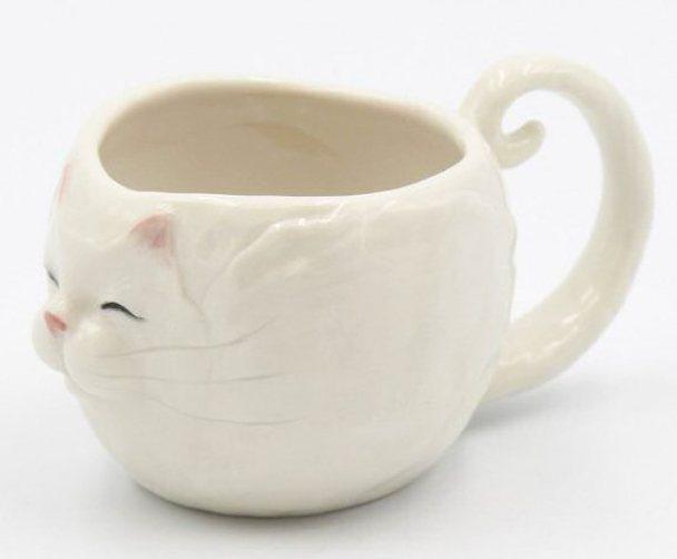 Blanca Cat Mugs, Set of 2
