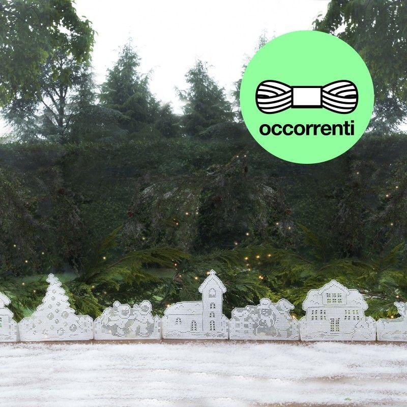 Paesaggio di Natale ad uncinetto filet  Mani di Fata