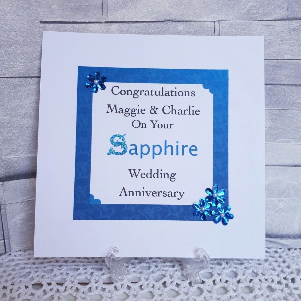 Details about Handmade Personalised Sapphire Anniversary