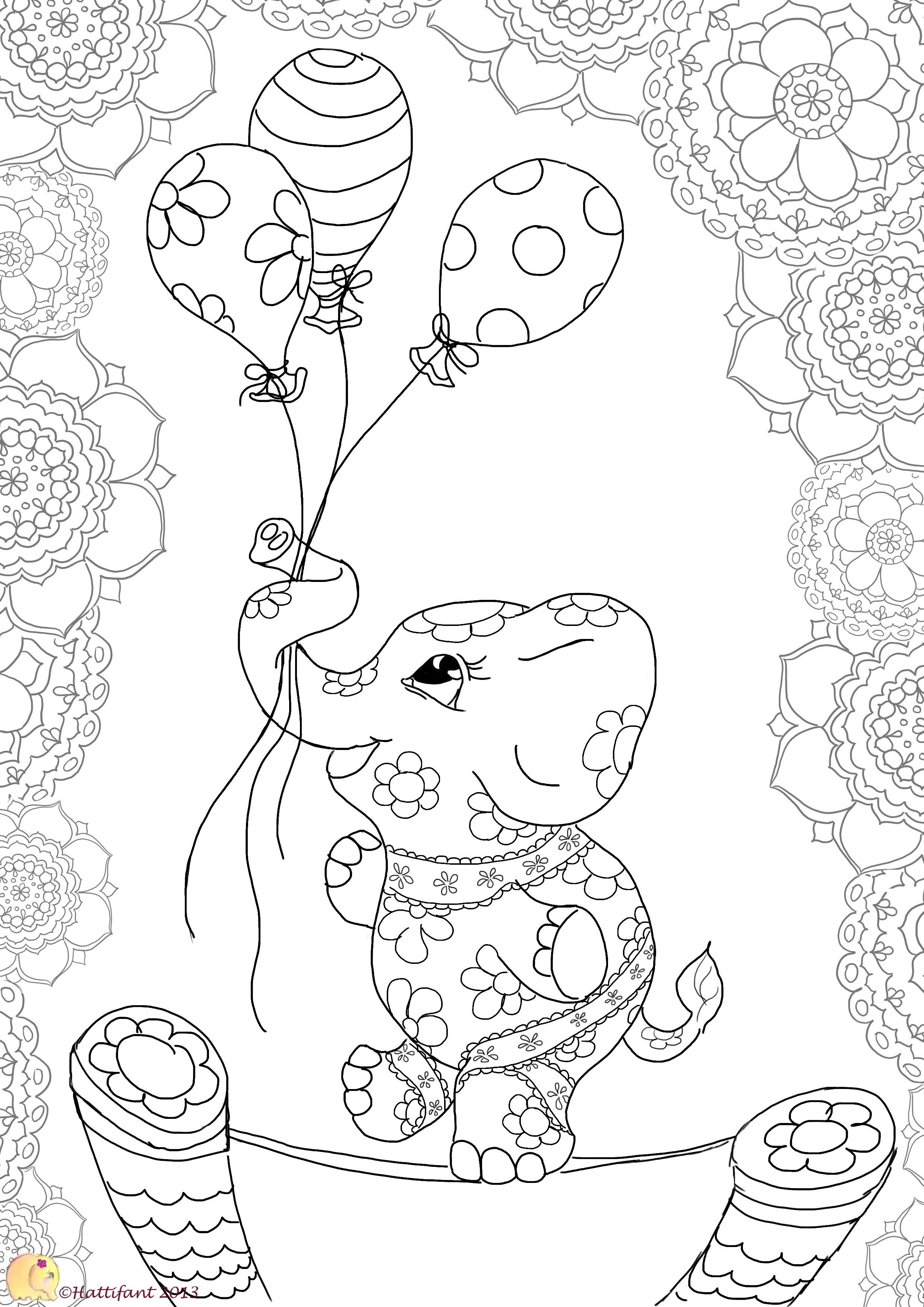 To colour in this dancing elephant click on the image. Related posts ...