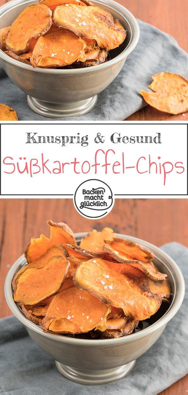 Süßkartoffel-Chips aus dem Ofen | Backen macht glücklich
