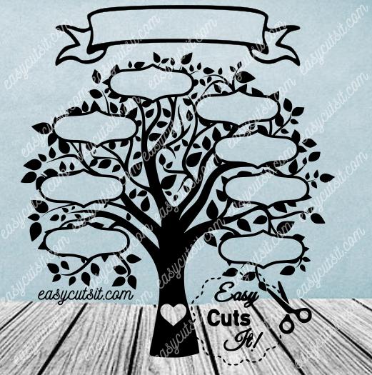Family Tree 8 SVG, DXF, EPS, PDF & plus Family tree