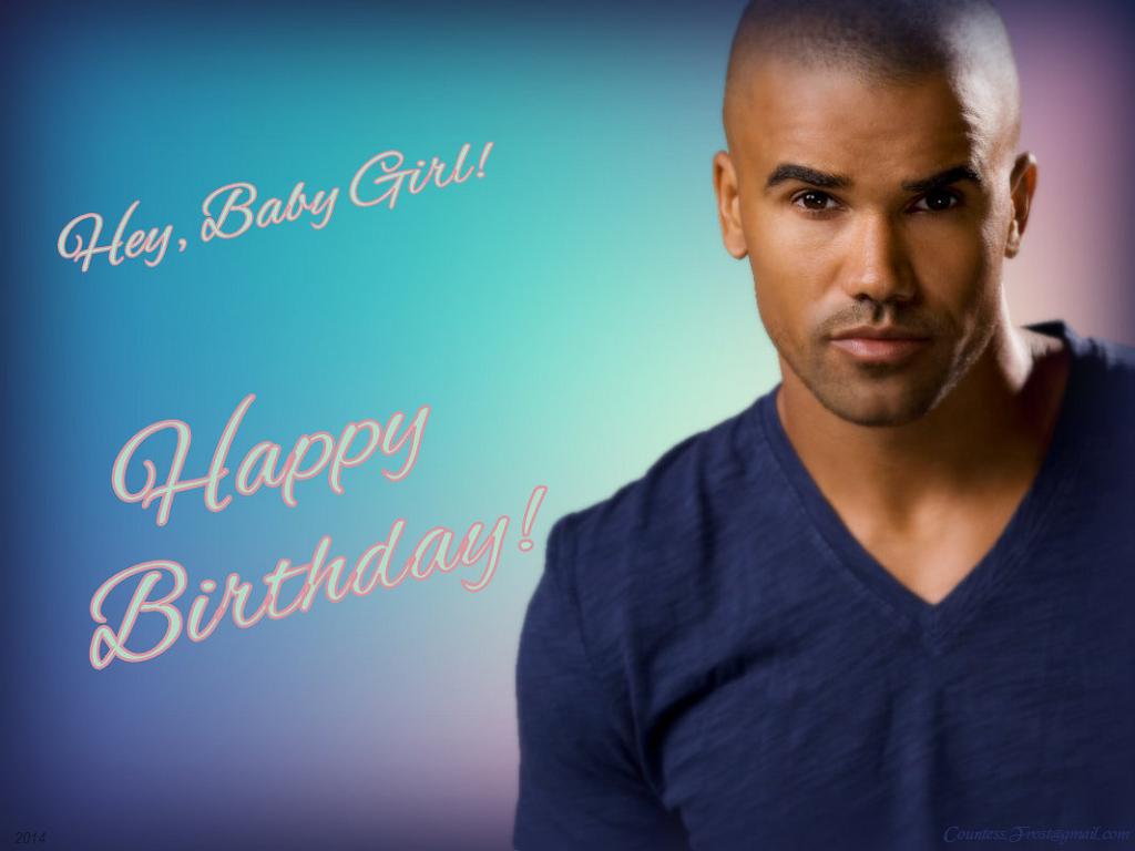 eb5e30926 Happy Birthday!' wallpaper created by TheCountess features Derek Morgan ( Shemar Moore) of the TV series 'Criminal Minds'