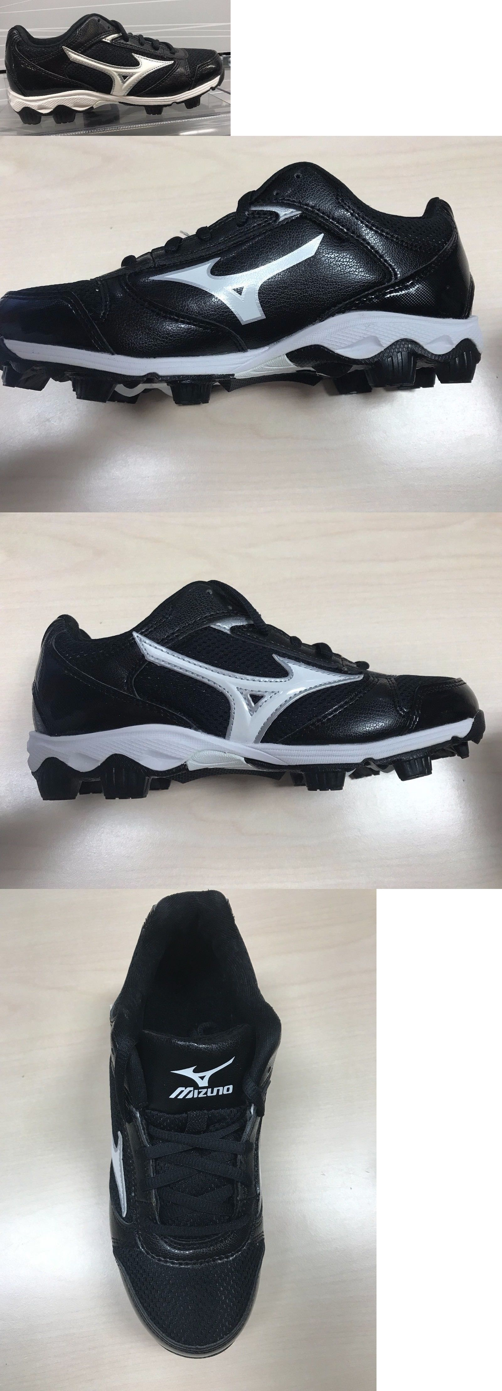 best authentic ecbb3 08b52 Youth 159061  Brand New Mizuno Youth 9 Spike Franchise Baseball Cleats  Black White 3203999000 -