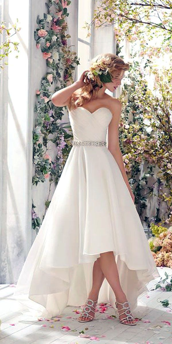 Top 15 High Low Wedding Dresses ❤ See more: http://www.weddingforward.com/high-low-wedding-dresses/ #weddings #dresses