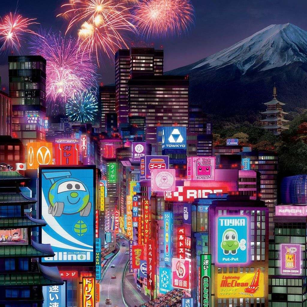 Tokyo City In Cars 2 Wallpaper Anime Cartoons In 2019 Tokyo