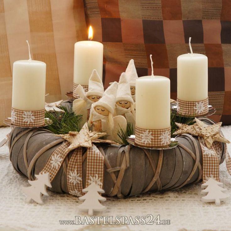 adventskranz selber machen elegante klassische und romantische