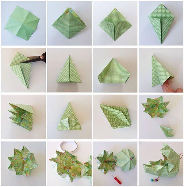 tuto origami pour noel