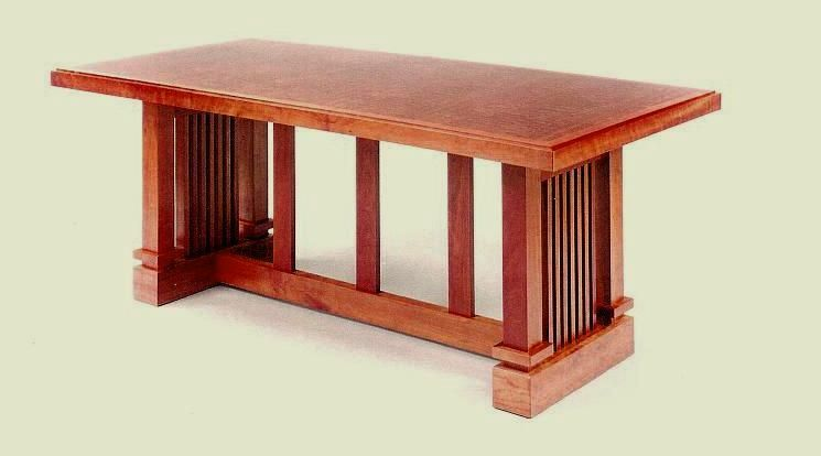 Frank Lloyd Wright Table Craftsman Style Furniture Mission