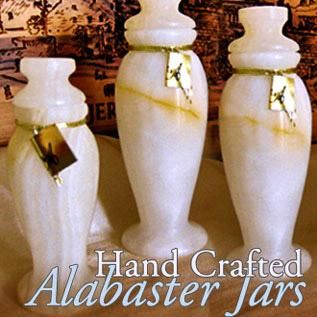 Image Alabaster Jar 4 Anointing Oil Holder In Gift Box
