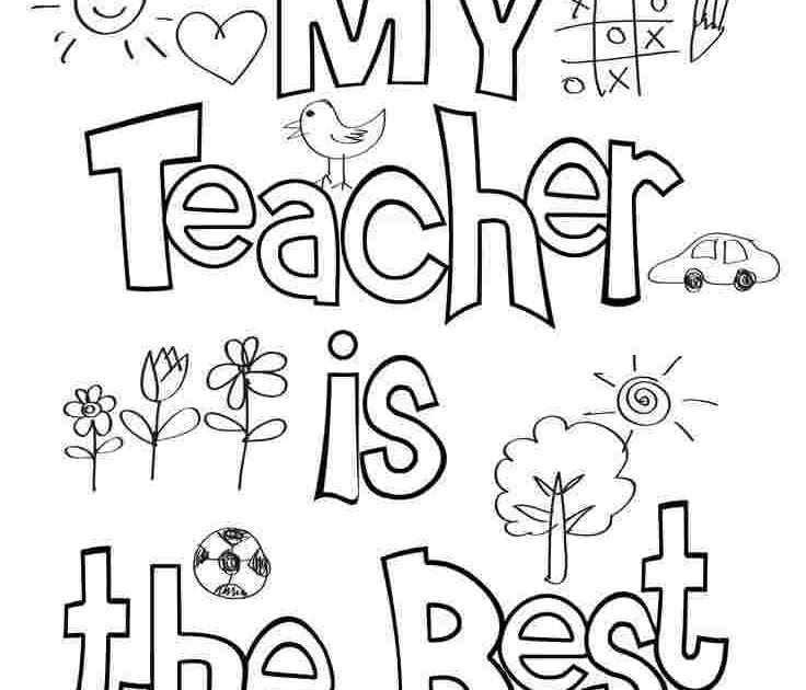 Teacher Birthday Coloring Pages World39s Best Teacher