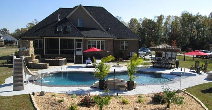 Small Rectangular Inground Pool Designs For Small Backyard With