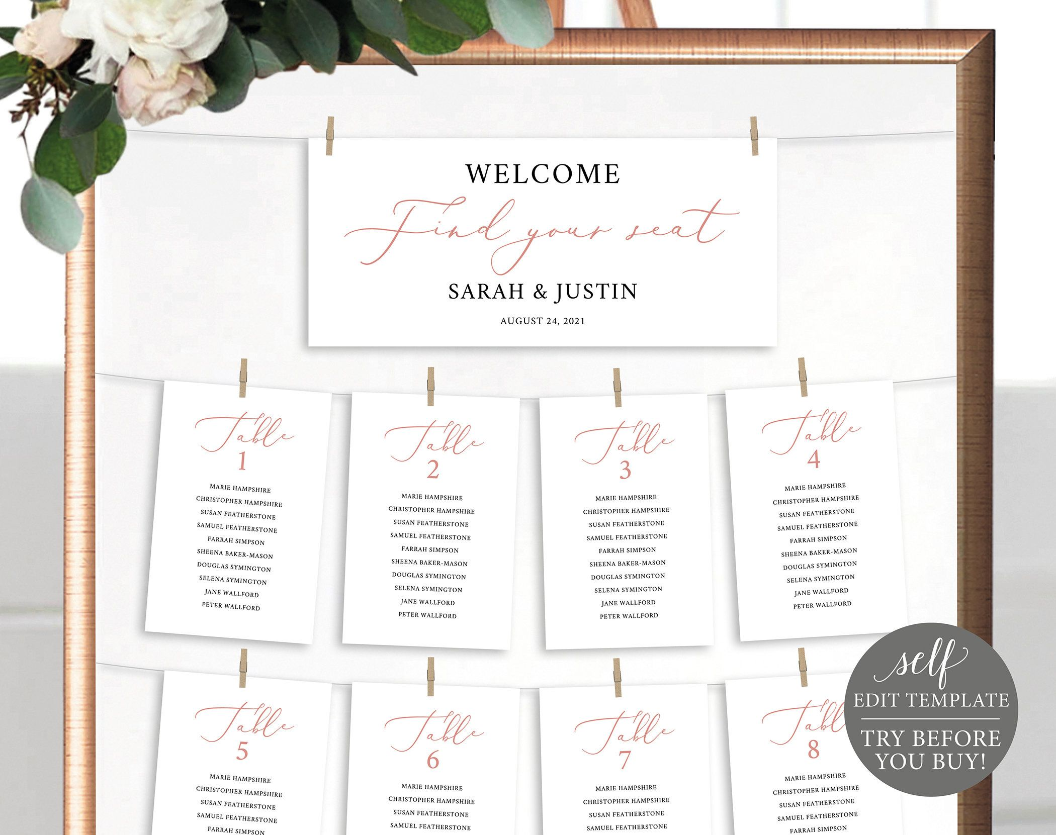 Seating Cards Template Header Card Free Demo Available Etsy Wedding Invitations Printable Templates Card Template Seating Cards