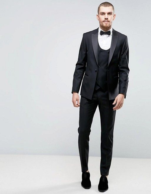 Classic slim-fit tux!   ASOS Slim Suit Tuxedo In Black   Wedding ...