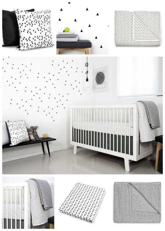Black And White Nursery Ideas Olli Lime Mini Triangle