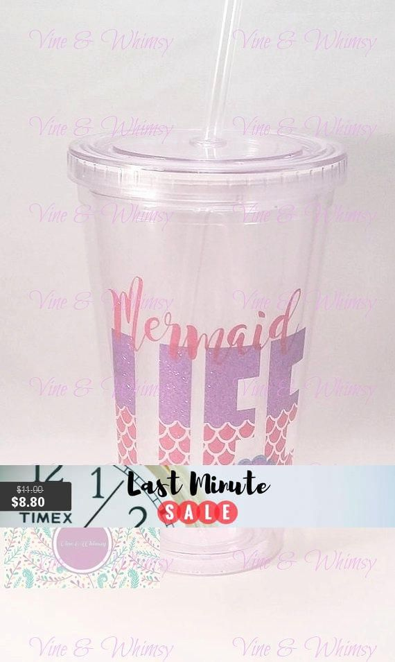 97db2ea07c9 Clear Acrylic Tumbler, personalized double wall tumbler, Plastic cup,  monogram, custom decal, Gift for kids, Name, Initial, 16 oz BPA free