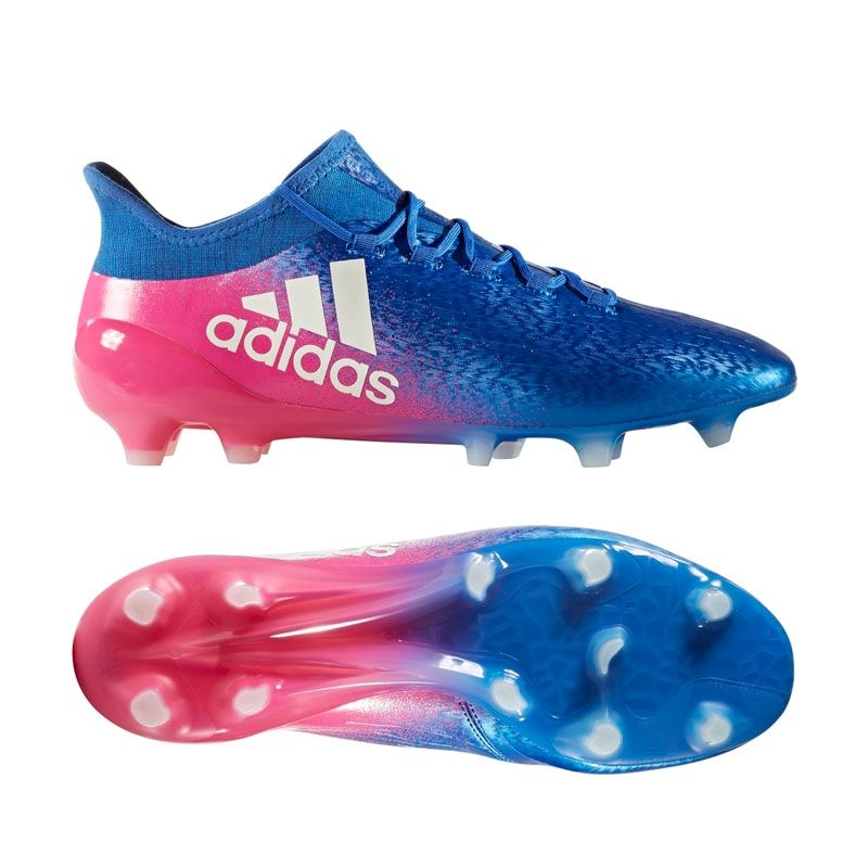 Adidas X 16 1 Fg Soccer Cleats Blue White Shock Pink Cool Football Boots Soccer Cleats Nike Soccer Shoes