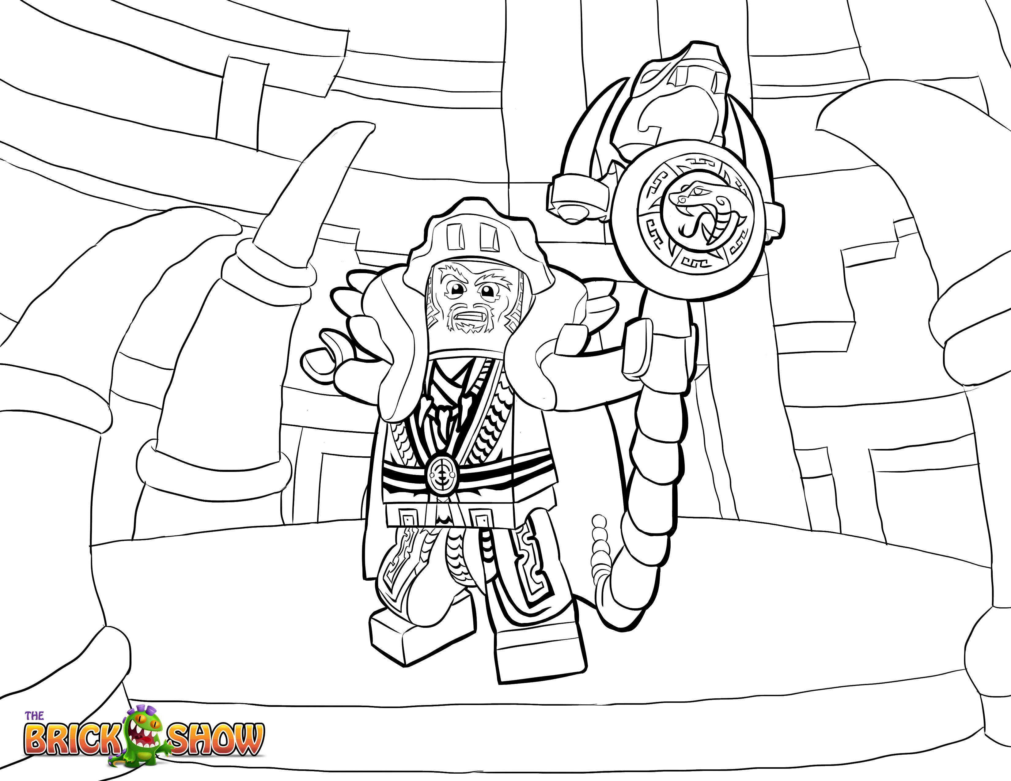 LEGO Ninjago Coloring Page LEGO