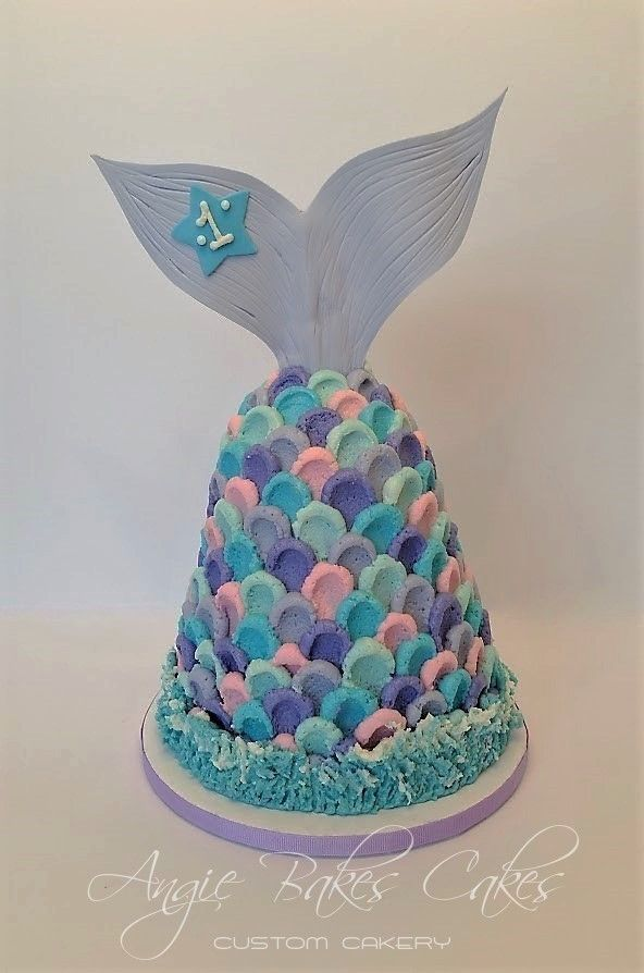 Mermaid Tail Smash Cake For First Birthdays First