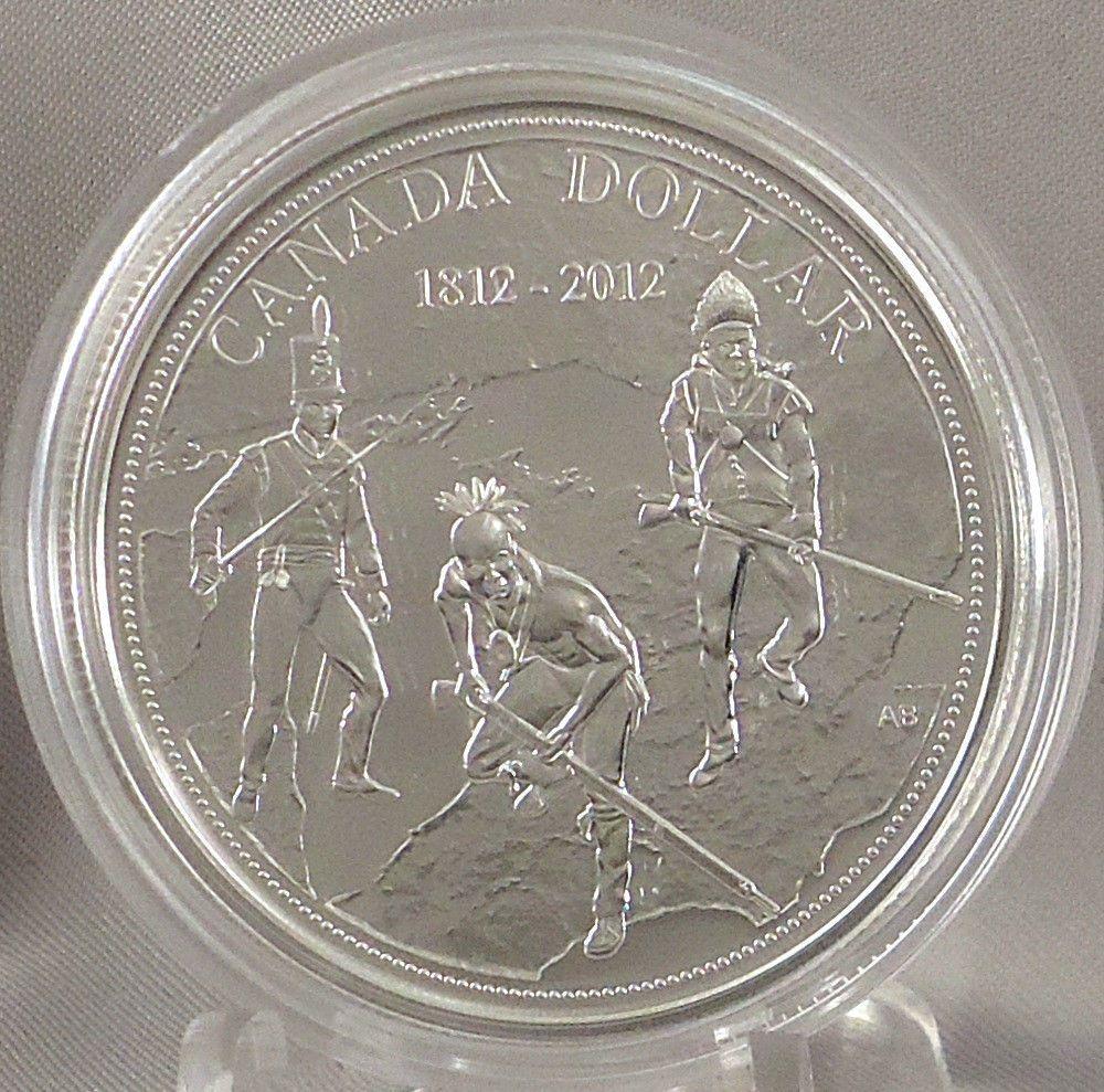 Canada 2012 $1 War of 1812 200th Anniversary 99.99/% Pure Silver Proof