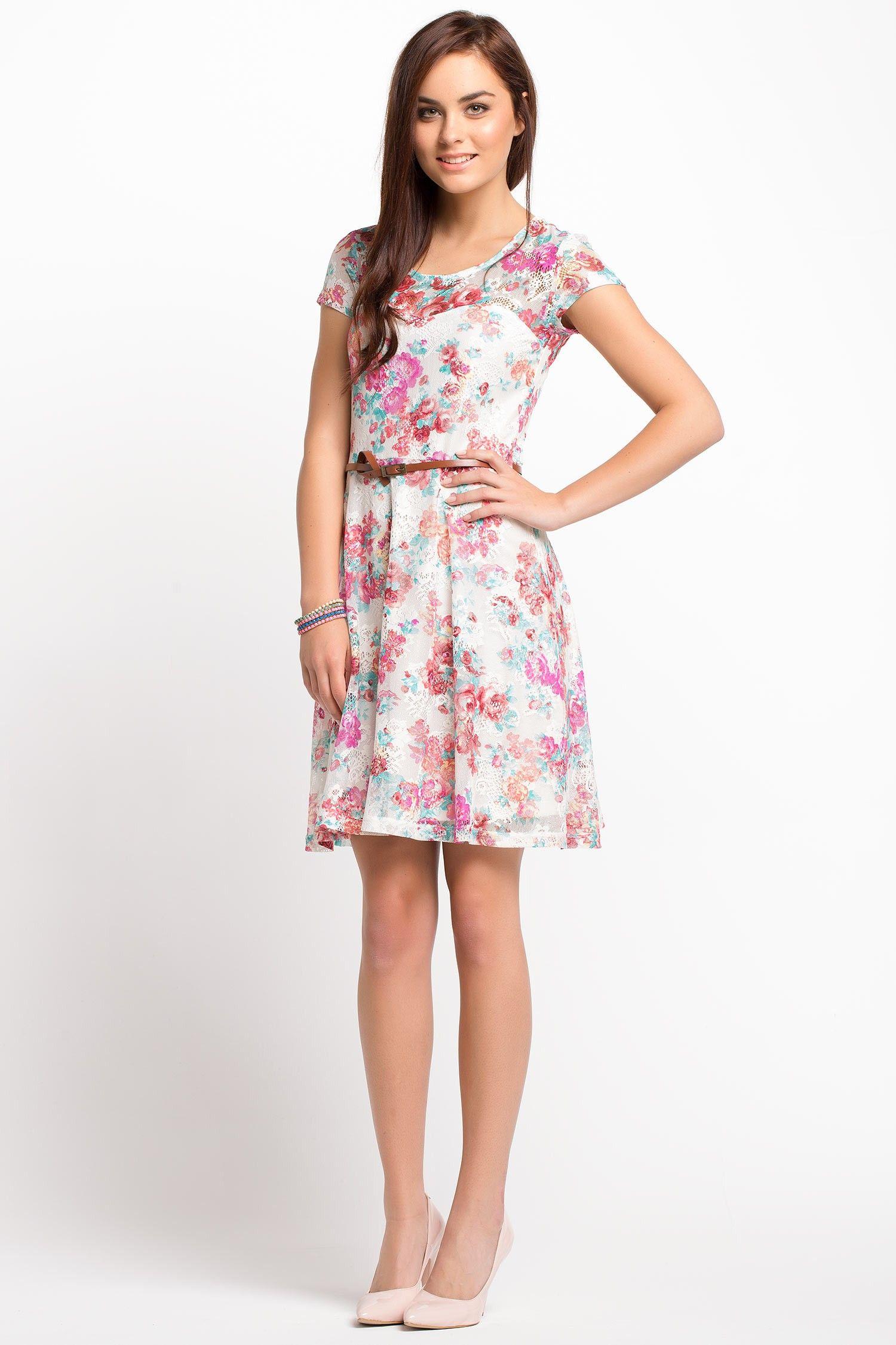 f5fbc9f849060 Çiçek Desenli Elbise ben bunu alışverişte giyeceğim | defacto ile ...