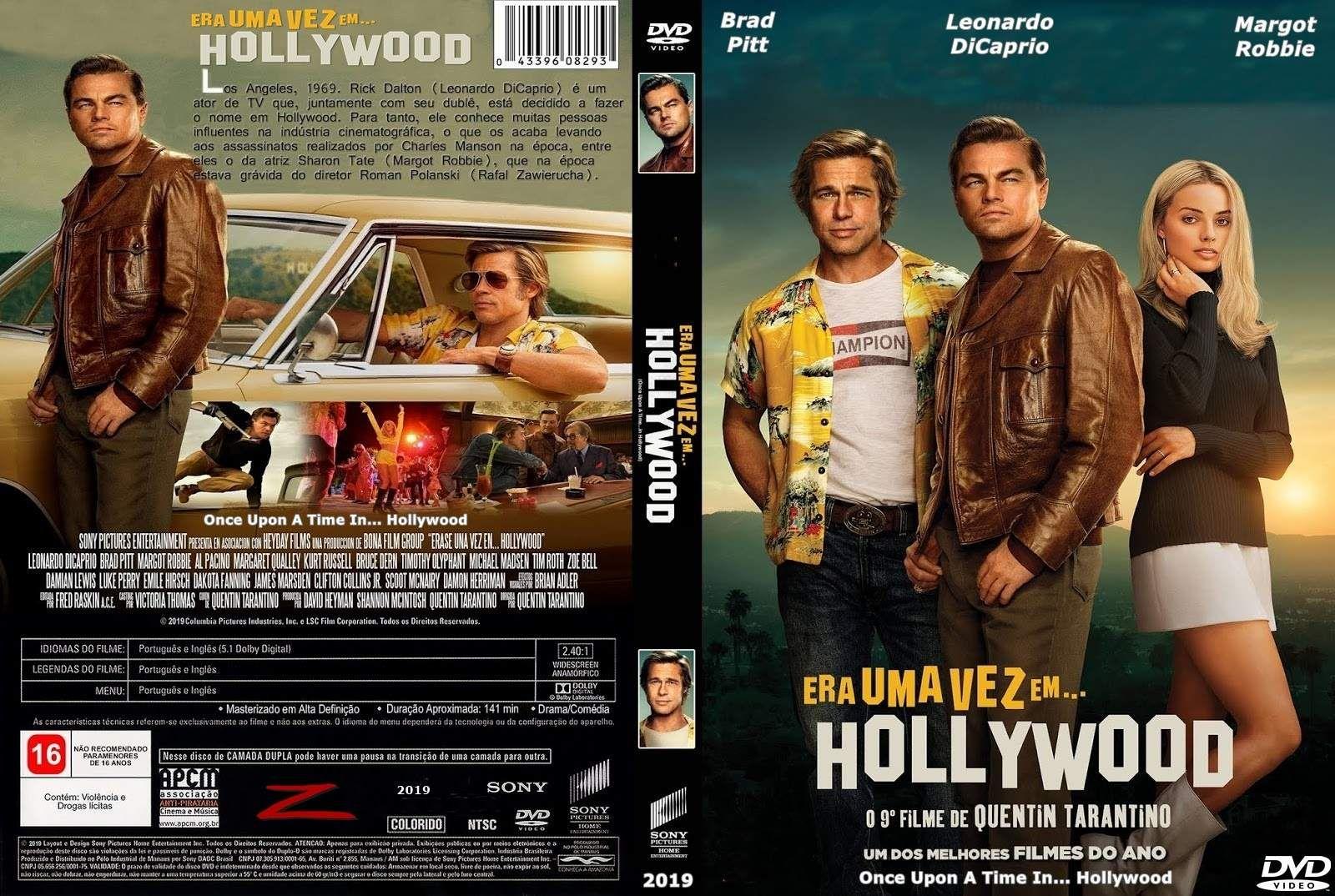 Era Uma Vez Em Hollywood 2019 Capas Dvd Filmes Dvd