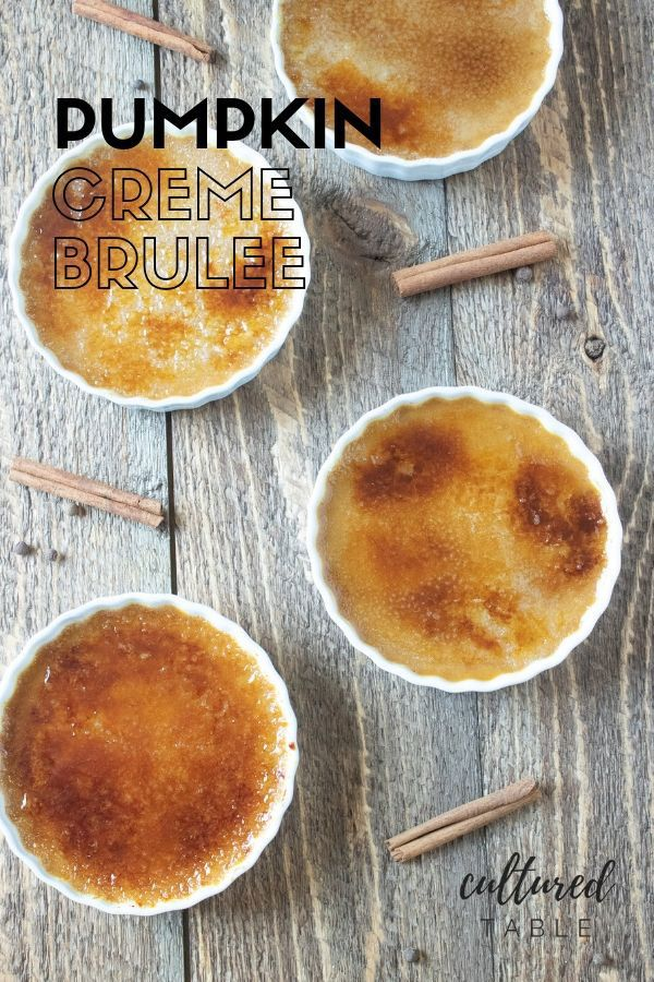 Pumpkin Creme Brulee Recipe #cremebrulée