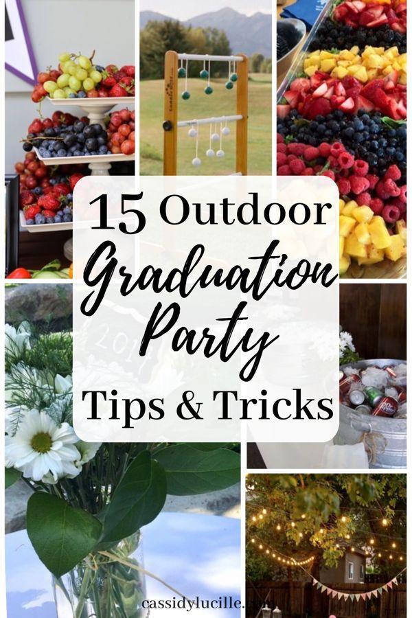 15 Outdoor Graduation Party Ideas Every Grad Needs To Know #graduationparties