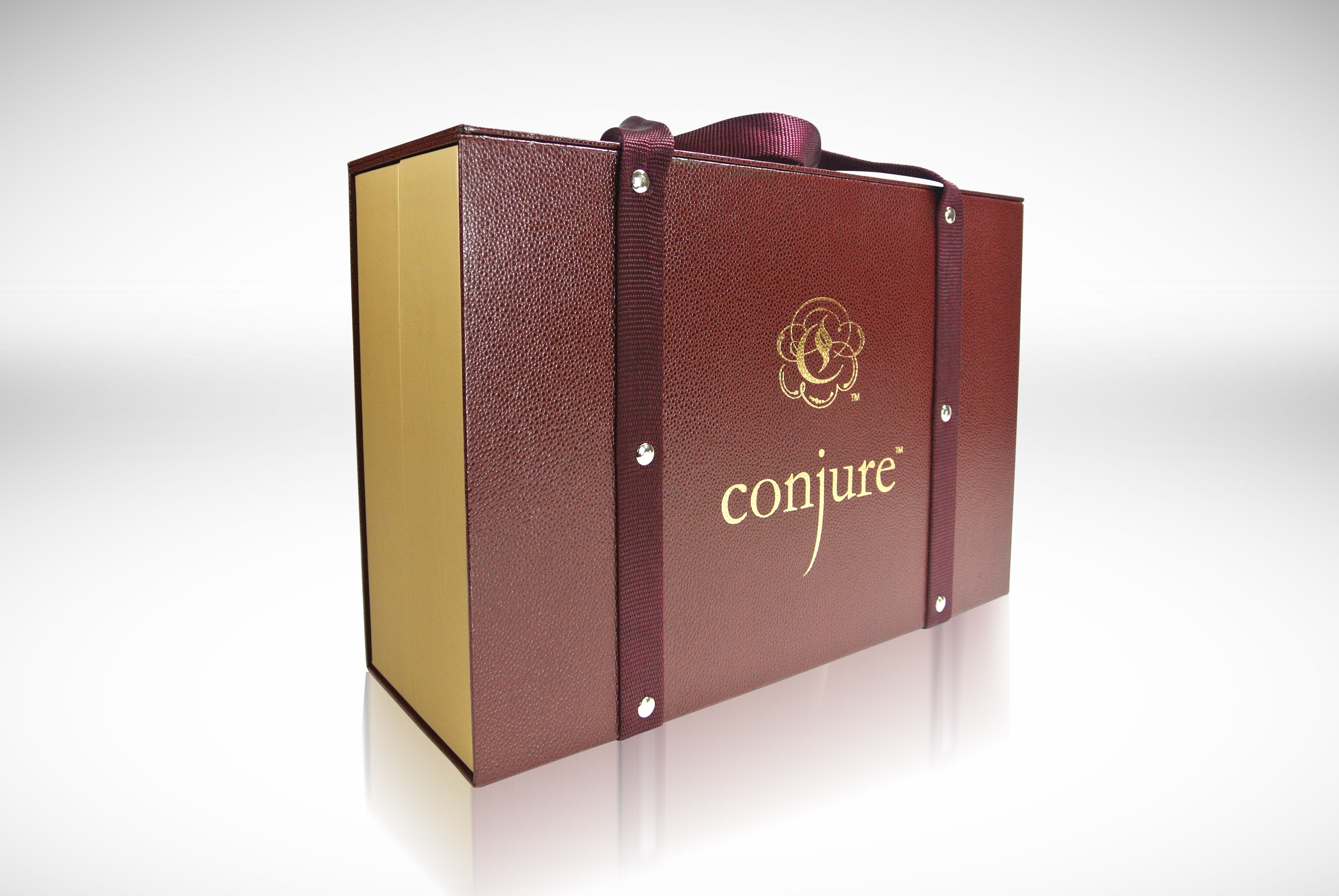 The Conjure Sales Kit Is One Of A Kind Burgundy Material And Gold Foil Demand Attention Inside Custom Foam Inserts And Matte The Conjuring Things To Sell Box