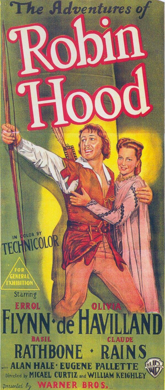 1938 Les Aventures De Robin Des Bois The Adventures Of Robin Hood Réalisé Par Michael Curtiz Et William Keighley Affiche Film Robin Des Bois Poster Affiche