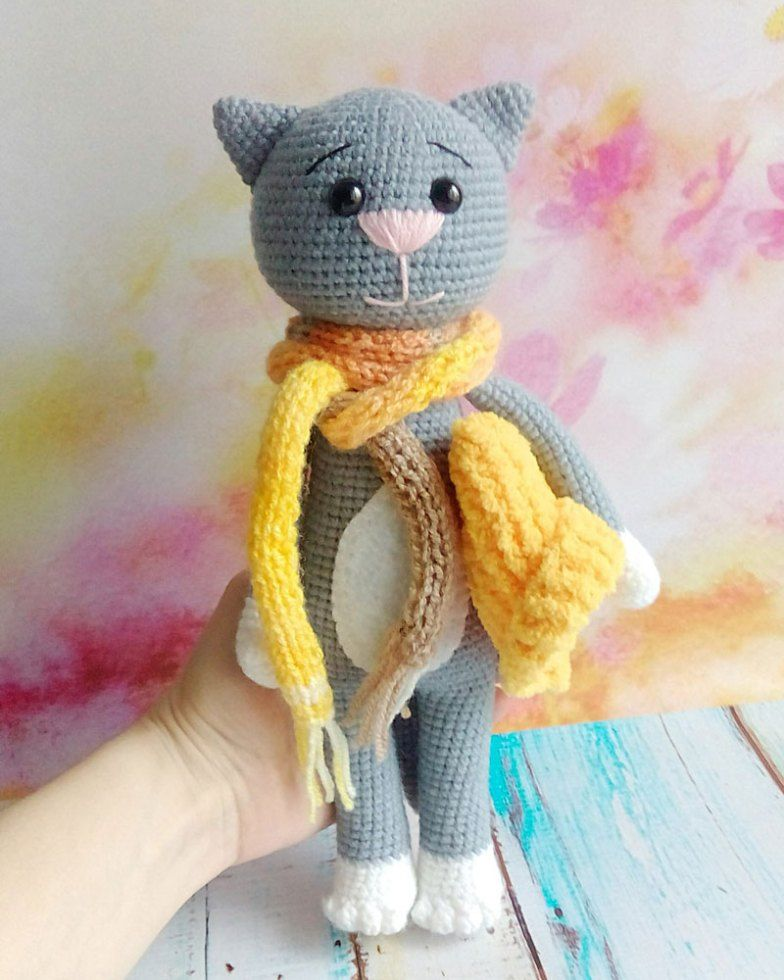 Crochet Cat Pattern With Accessories Crochet Patterns Pinterest