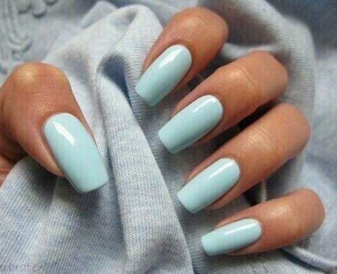 Summer blue acrylic nails! Summer | Summer Maternity Style | Summer Fashion  | Summer Chic - Summer Blue Acrylic Nails! Summer Summer Maternity Style