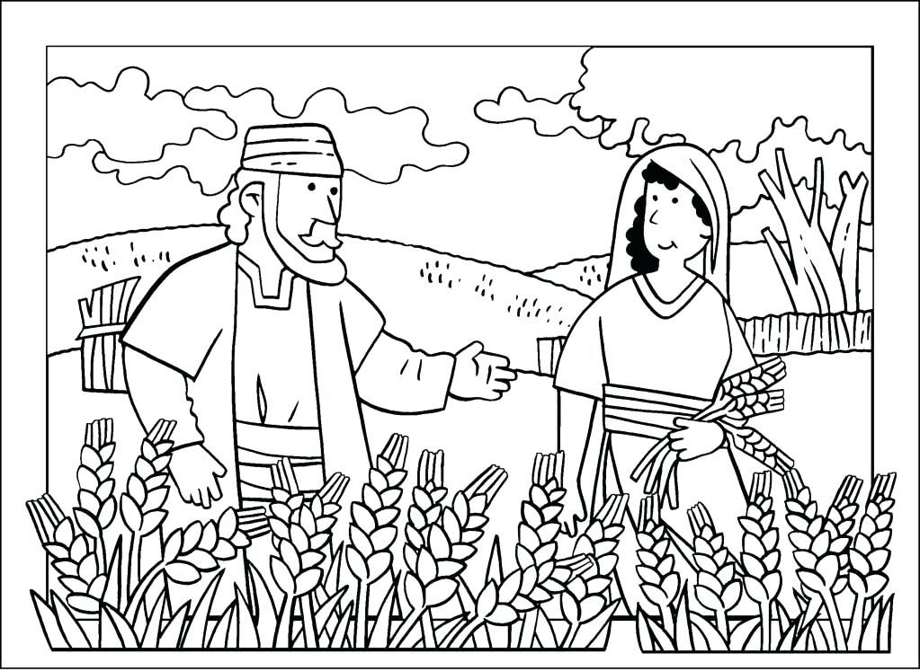 ruth and boaz coloring pages and