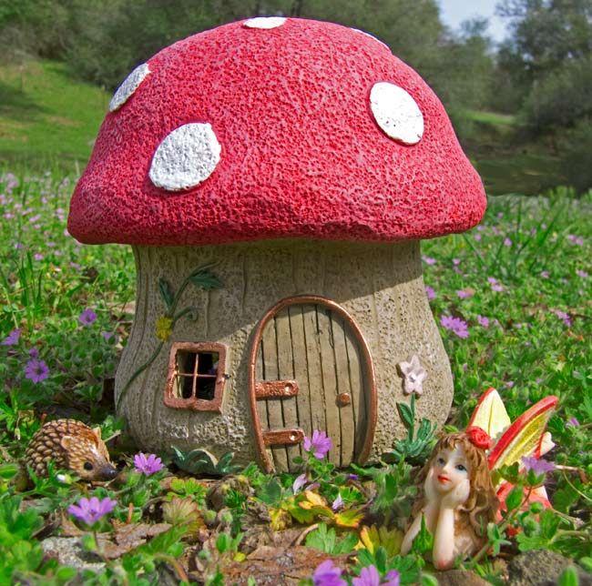 Fairy Gardens | Fairy Mushroom House Pic 1 Www Miniature Gardens Com 91 Kb  650 X