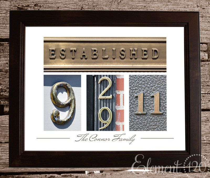 Personalized Wedding Date Frame With Colored Number Photo Art Brown 11x14 Frame Custom Wedding G Wedding Date Art Custom Wedding Gifts Personalized Wedding