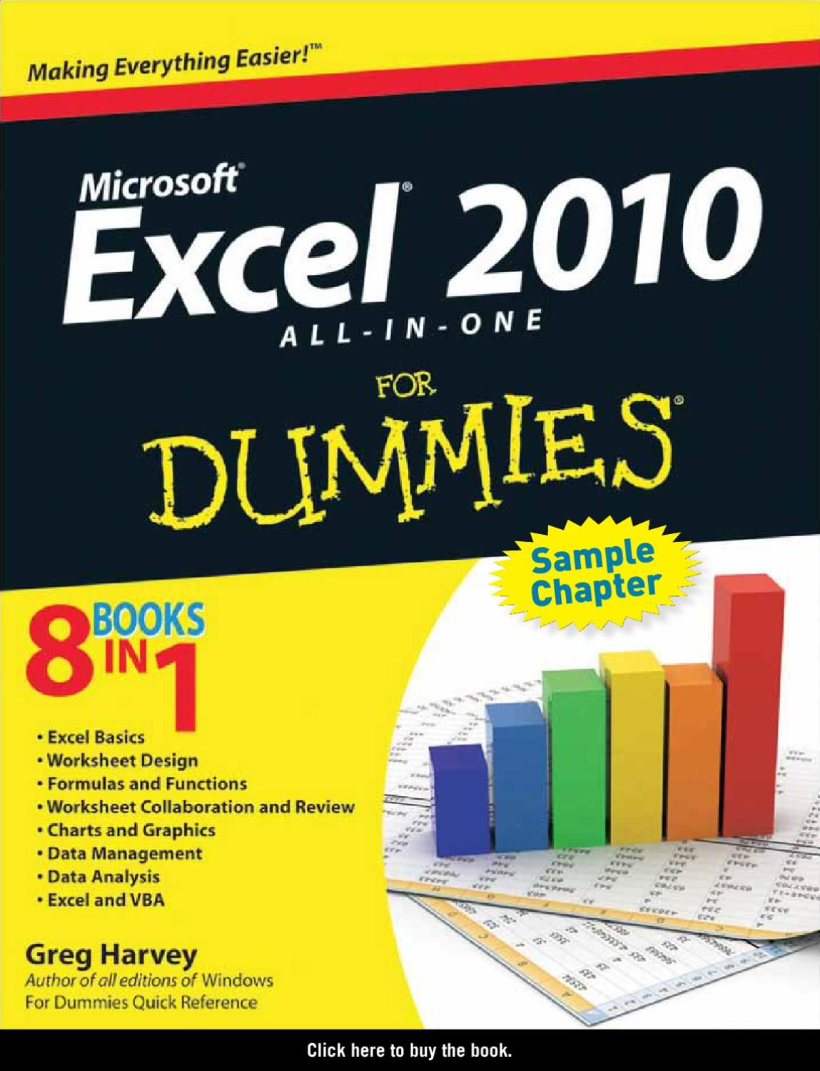 Excel All In One For Dummies Sample Chapter