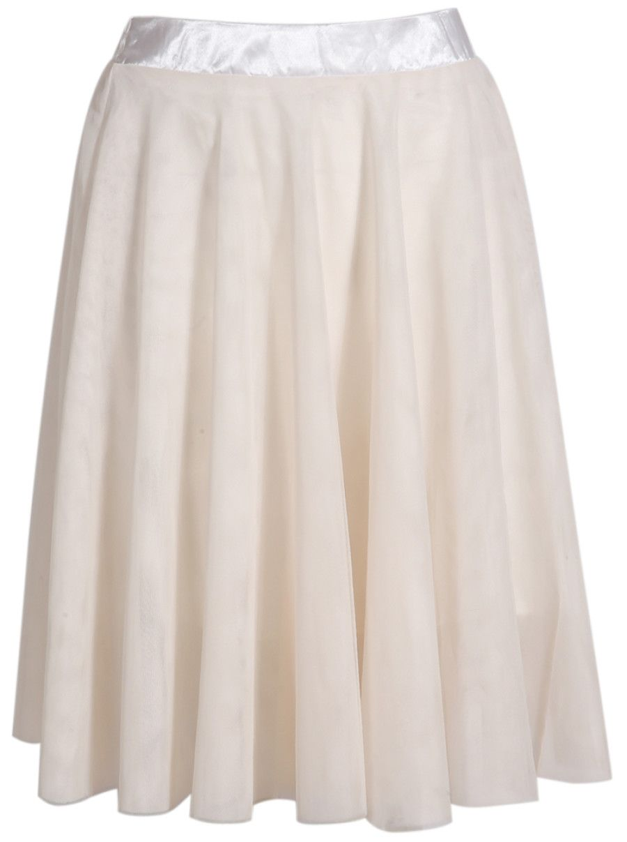 Shop Beige Elastic Waist Pleated Skirt online. SheIn offers Beige Elastic Waist Pleated Skirt & more to fit your fashionable needs.