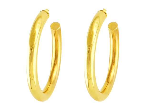 cbc31d478 Tiffany & Co. Gold Hoops | Estate Jewelry | Gold hoops, Gold, Tiffany