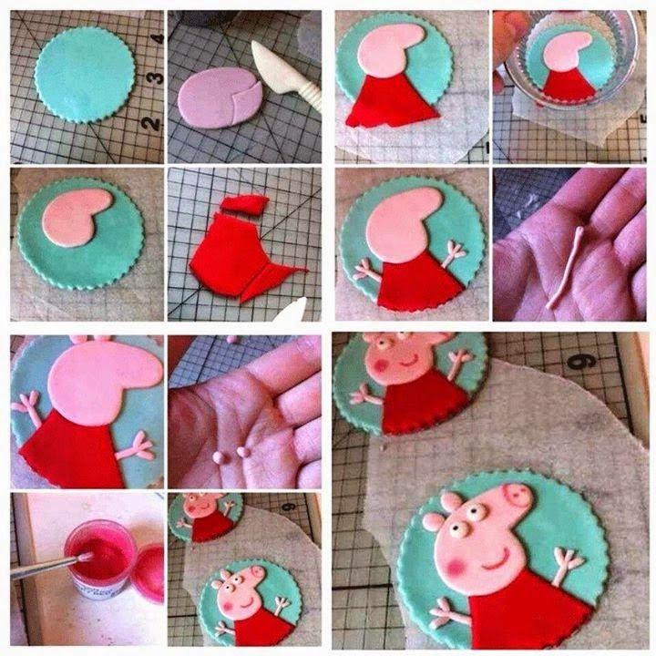 Preciosas decoraciones para poder decorar cupcakes o lo que necesitemos con este simpático personaje la cerdita Pepa. Los más chiquitos d...