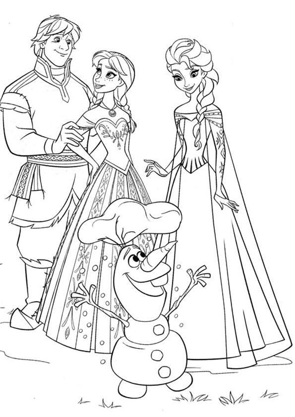 Dibujo de personajes de frozen para colorearDibujo de personajes de ...