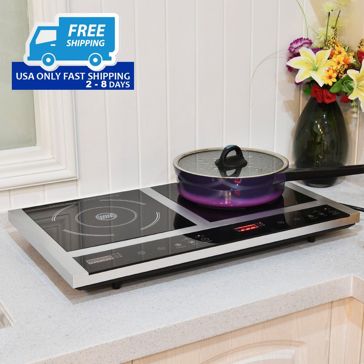Double Burner Cooktop Digital Electric Induction Cooker