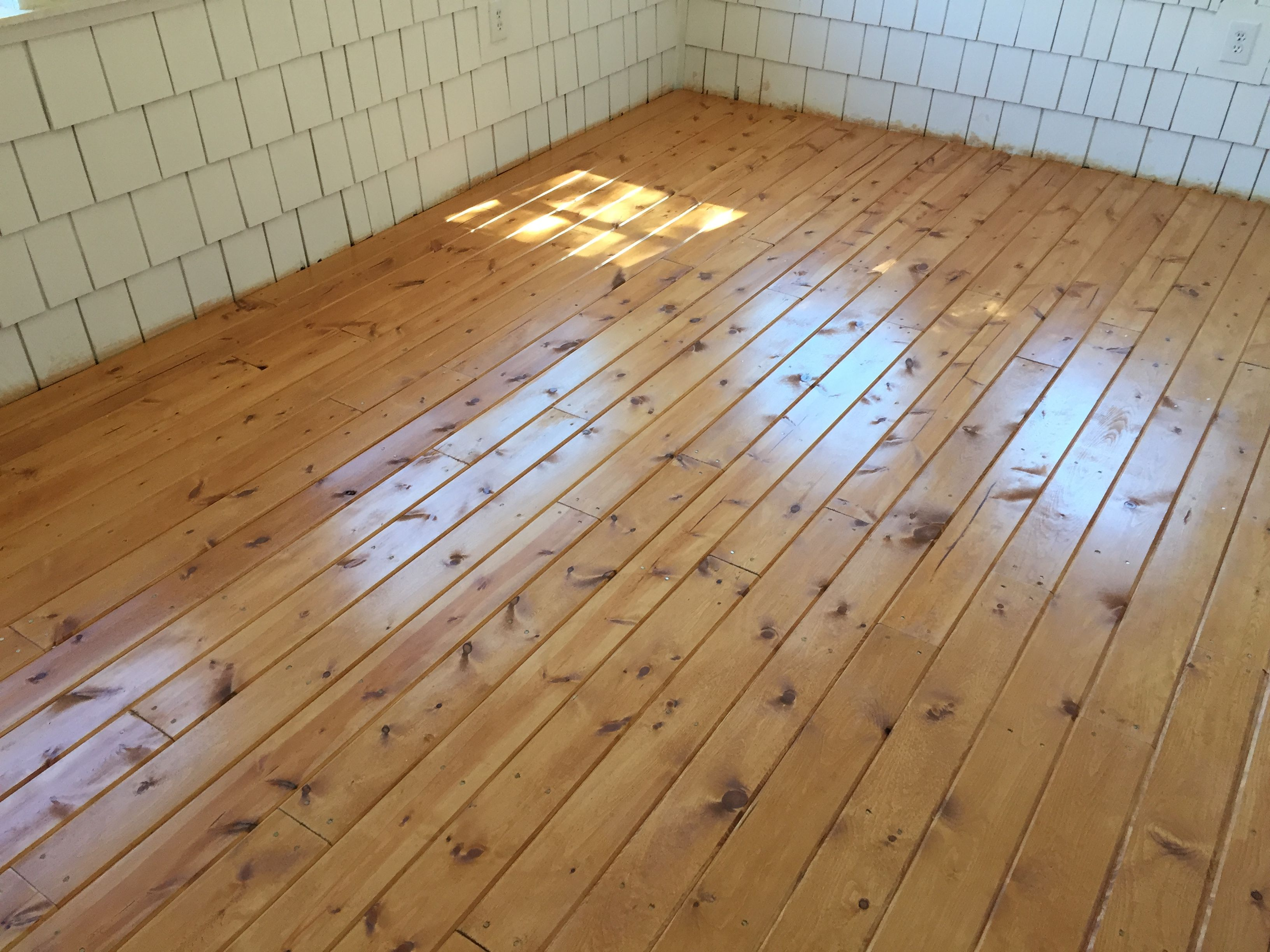 Home Depot Eastern White Pine tongue and groove board floors ...