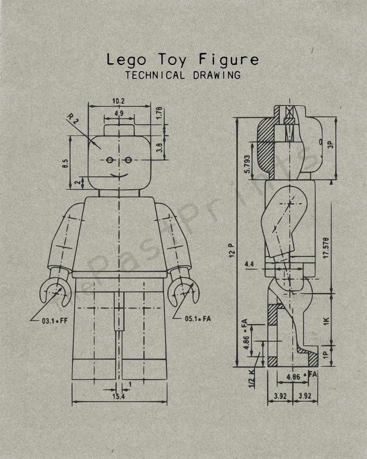 Lego Printable Lego Figure Techincal Drawing Lego Art Lego - copy famous blueprint art
