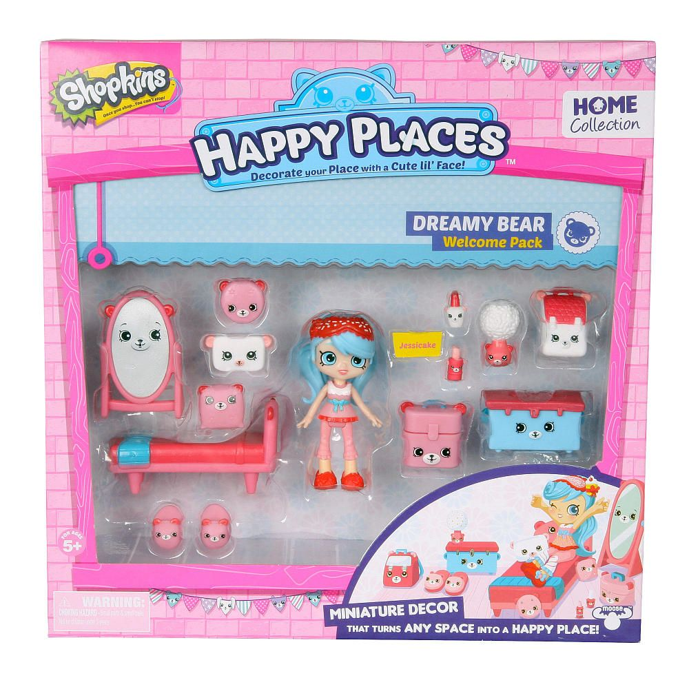 Shopkins Happy Places Miniature Decor Welcome Pack