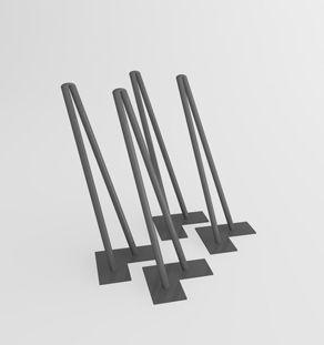 4 pieds epingles en metal pied table meuble hifi et meuble metal. Black Bedroom Furniture Sets. Home Design Ideas