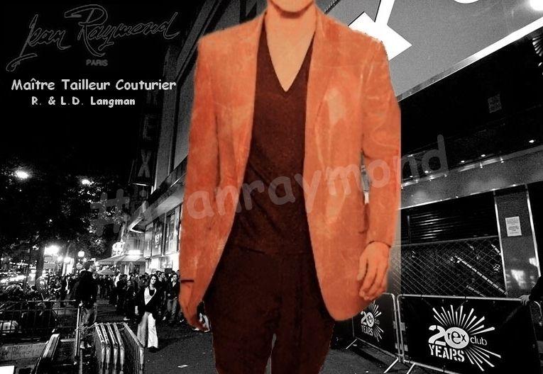 Vintage Retro : Veste droite en agneau de cuir vieilli 'Jean