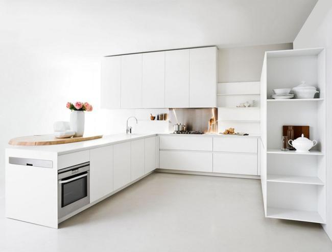 Modern White Kitchens modern white kitchen - home design ideas - murphysblackbartplayers