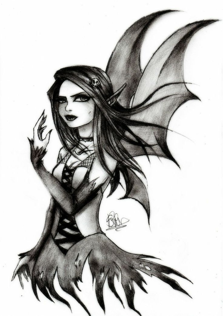 Dark fairy pencil drawings google search